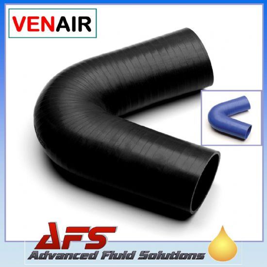 VENAIR 135 DEGREE Silicone Hose, Silicon Pipe BLUE, BLACK or RED